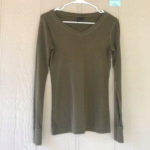 Cynthia rowley | green long sleeve soft cotton